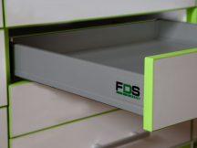 FDS DUPLAFALÚ FÉM FIÓKOLDAL FDS-DF N 500mm, 40kg SZÜRKE