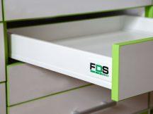 FDS DUPLAFALÚ FÉM FIÓKOLDAL FDS-DF N 500mm, 40kg FEHÉR