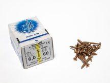 FACSAVAR REISSER 6x60mm ACÉL, SÁRGÍTOTT, TÖVIGMENETES 100db/doboz